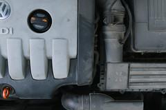 VW Passat B6 TDI engine from above.