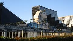"Nevada - Las Vegas: Monorail "" Mandalay Bay Tram"" leaves LUXOR station"