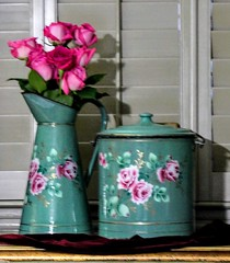 Enamel Ware and Roses