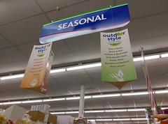 More Seasonal signage