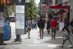 A Street Scene, City Centre Downtown, Vancouver  during coronavirus pandemic