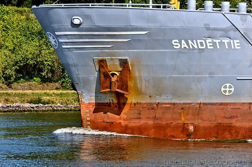 Bug des Frachtschiffs
