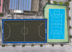 Aerial View of a Football Field - Irpinia