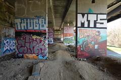 Graffiti @ Beneath the interchange @ Pringy