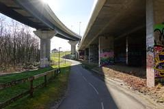 Bike road @ Beneath the interchange @ Pringy
