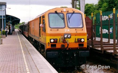 Irish Rail 214 in Mallow.