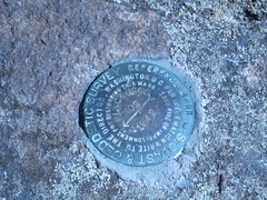 USGS reference marker BLUE MOUNTAIN No 2