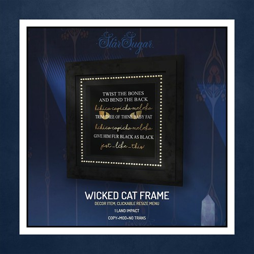 Wicked Cat Frame
