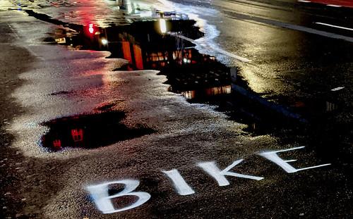 Temporary bike lane