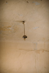 Old bulb on the ceiling.