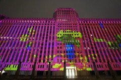 The Merchandise Mart at night, Chicago