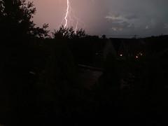 Lightning then the thunder, thunder