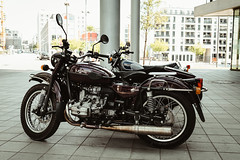 With the Ural-Sidecar to Stuttgart