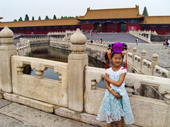 China, Beijing - Princess style and smile in the Forbidden City - July 2010