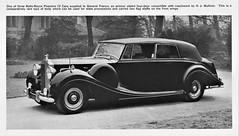 1952 Rolls-Royce Phantom IV Four-Door Convertible