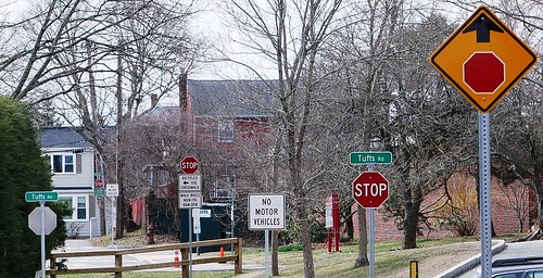 5 stop signs, Winchester, MA - 2020 March 28