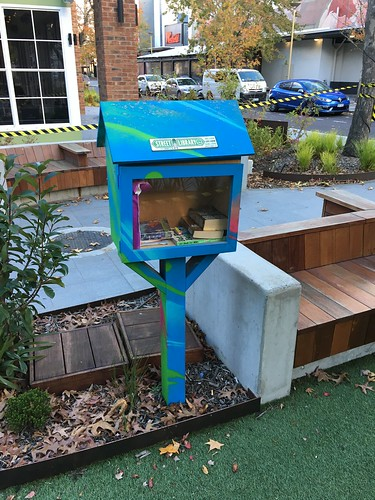 San Churro Little Library with Covid Restrictions