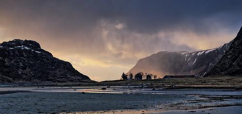 Sun breaking through, Norway