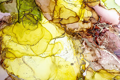 Alcohol ink art, bright abstract painting. Colourful background