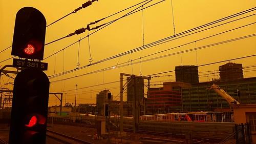 Bushfire Season Sydney Central Station
