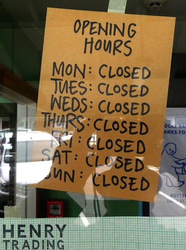 opening hours during lockdown