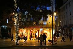 Portuguese Sardine store at night, Lisbon