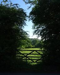 Bucolic barred gate