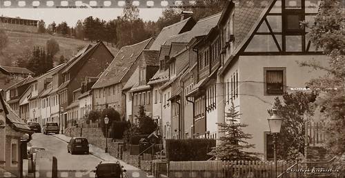 Blick in die Bergstraße in Zschopau