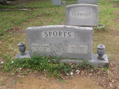 Sports tombstone