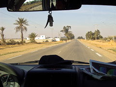 Tunisia, Medenine - Protected by hamsa amulet at 115 km/h - May 2010