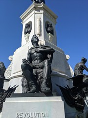 Revolution statue, Washington Memorial, Forest Lawn Cemetery, Hollywood, Los Angeles, California, USA