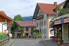 Oberammergau - Dorfstraße (23) - Straßenszene