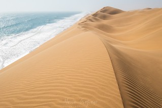 Coast of the Namibian Atlantic Ocean