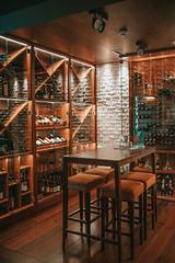 Wine corner interior.