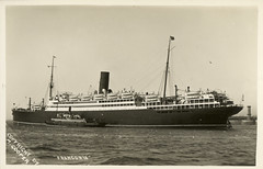 SS Franconia, Cunard Line Ship, c. 1930, published by M. Cooper