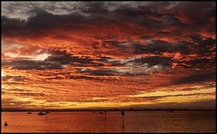 Sunset Cloud and Trawler Deception Bay 27 May 2020-1=