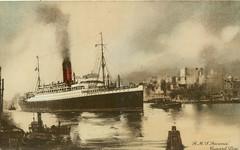 RMS Ascania, Cunard Line ship, ca. 1930