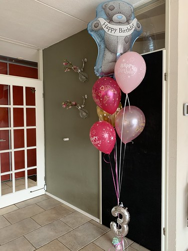 Ballonboeket Verjaardag 3 Jaar Teddy Beer