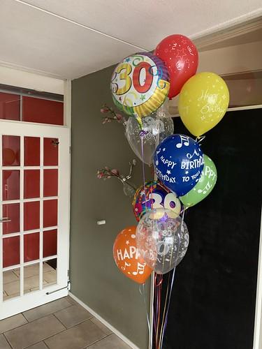 Ballonboeket Verjaardag 30 Jaar