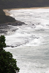 Dudley Bluff to the roack platform and beach on a big surf