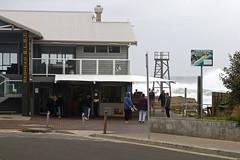 Redhead SLSC cafe on a big surf