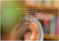 Haemin Sunim Instead of looking for someone to change your life, take a look in the mirror and be the person
