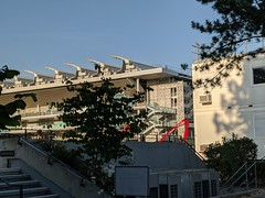 Le toit du Philippe Chatrier