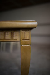 Brown table construction and design