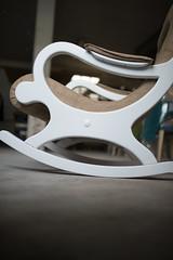 Chair construction closeup.