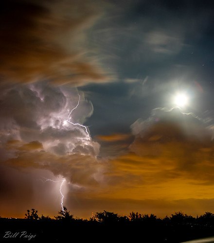 Deer Creek Storm on a Full Moon Night