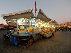 Morocco, Marrakesh - Lonely stand at Jemaa el-Fnaa square - November 2015