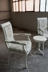 Glamour furniture set in home workshop.