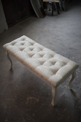 Vintage and glamour stool from above.