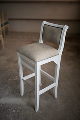 Chair design in home workshop.